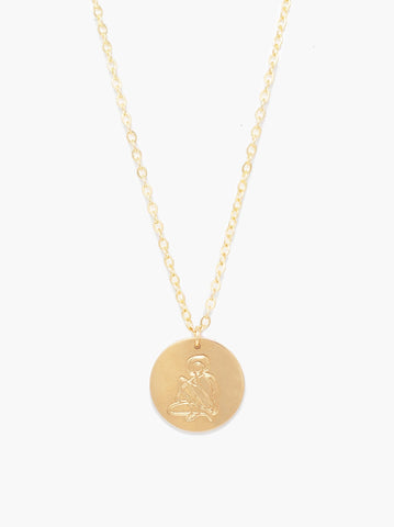 ABLE - Shes Worth More Empower Portrait Heirloom Gold Necklace
