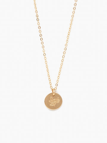 ABLE - Shes Worth More Grow Mini Tag Gold Necklace