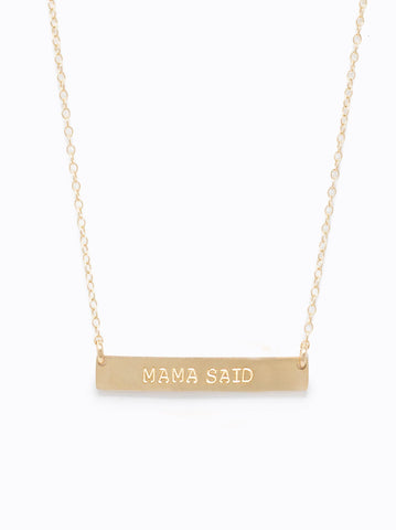 ABLE - Mama Said Horizon Gold Necklace