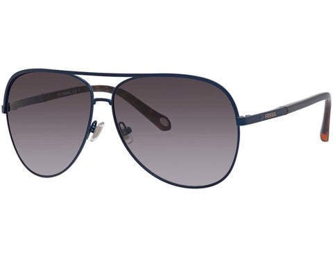 Fossil - 3054  Semi Matte Navy  Sunglasses / Gray Gradient Lenses