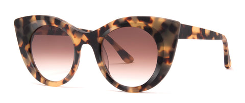 Thierry Lasry - Hedony Matte Tokyo Tortoise Sunglasses / Brown Gradient Lenses