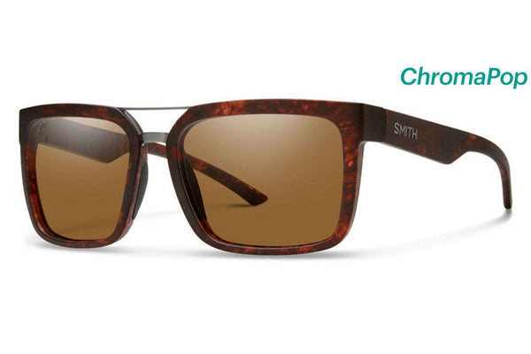 Smith - Highwire Matte Vintage Havana Sunglasses, ChromaPop Polarized Brown Lenses