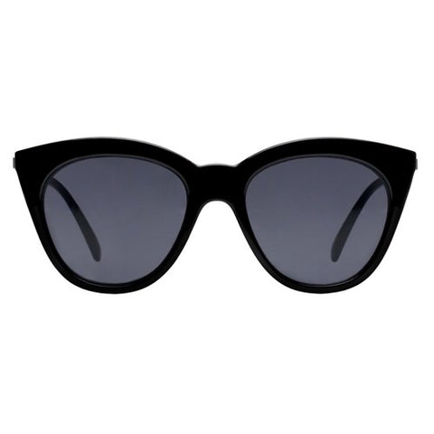 Le Specs - Halfmoon Magic Black Sunglasses / Smoke Mono Lenses