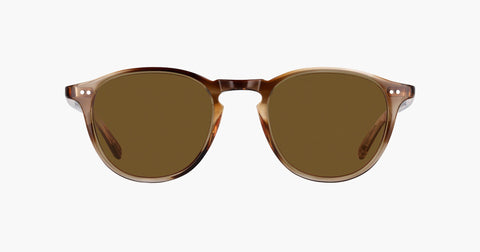 Garrett Leight - Hampton Khaki Tortoise Sunglasses / Semi Flat Pure Coffee Lenses