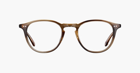 Garrett Leight - Hampton 44mm Khaki Tortoise Eyeglasses / Demo Lenses