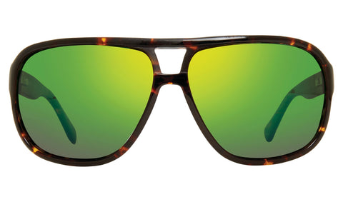 Revo - Hank 62mm Tortoise Sunglasses / Green Water Lenses