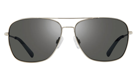 Revo - Harbor 60mm Chrome Sunglasses / Graphite Lenses