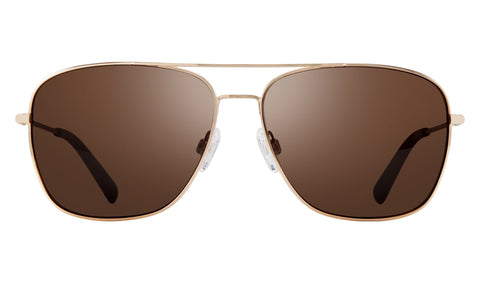 Revo - Harbor 60mm Gold Sunglasses / Terra Polarized Lenses