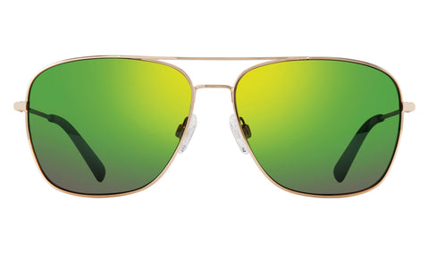 Revo - Harbor 60mm Gold Sunglasses / Green Water Polarized Lenses