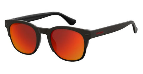 Havaianas - Angra Black Sunglasses / Red Mirror Lenses