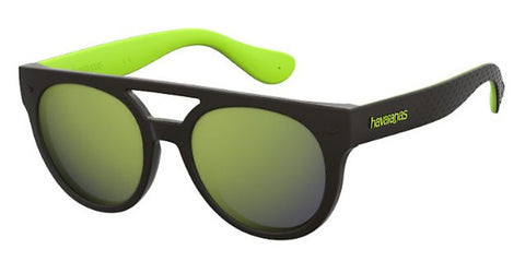 Havaianas - Buzios Black Green Sunglasses / Yellow Mirror Lenses