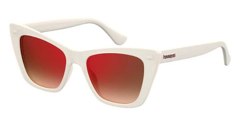 Havaianas - Canoa Ivory Sunglasses / Red Mirror Lenses