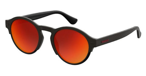 Havaianas - Caraiva Black Sunglasses / Red Mirror Lenses