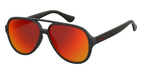 Havaianas - Leblon Black Sunglasses / Red Mirror Lenses