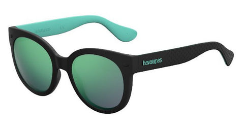Havaianas - Noronha M Black Turquoise Sunglasses / Yellow Mirror Lenses