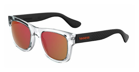 Havaianas - Paraty L Crystal Black Sunglasses / Red Mirror Lenses
