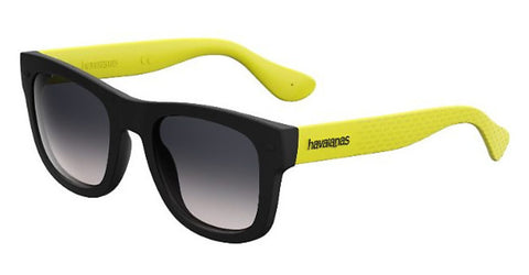 Havaianas - Paraty L Black Yellow Sunglasses / Smoke Gradient Lenses