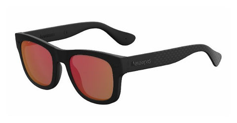 Havaianas - Paraty M Black Sunglasses / Red MIrror Lenses