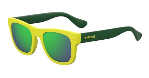 Havaianas - Paraty M Yellow Green Sunglasses / Green Multi Layer Lenses