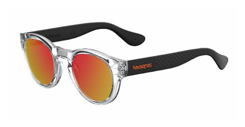 Havaianas - Trancoso M Crystal Black Sunglasses / Red Mirror Lenses