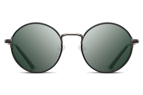 Shwood - Hawthrone Acetate Black Chrome / G15 Sunglasses