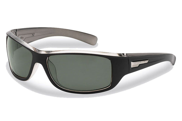 Flying Fisherman - Helm 7831 Black-Crystal Gunmetal Sunglasses, Smoke Lenses