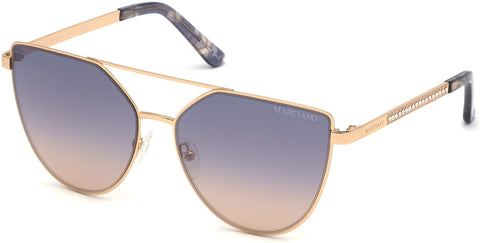 Marciano - GM0778 Shiny Rose Gold Sunglasses / Gradient Lenses
