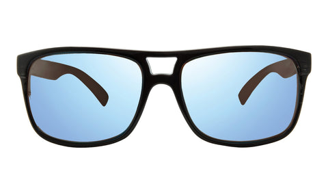 Revo - Holsby 58mm Black Woodgrain Sunglasses / Blue Water Lenses
