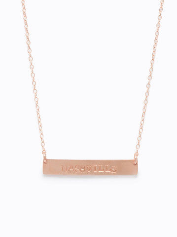 ABLE - Horizon Rose Gold Necklace