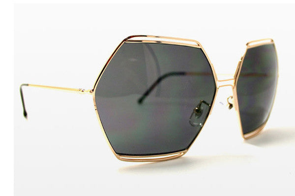 Spitfire - Hype Gold Sunglasses, Black Lenses