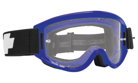 Spy - Breakaway Blue MX Goggles / Clear Posts Lenses