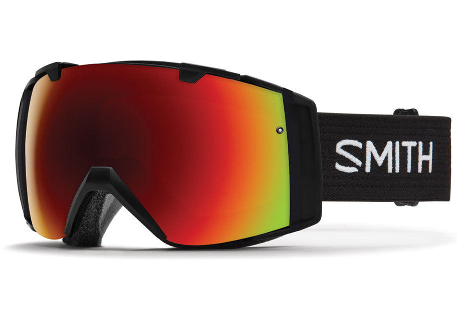 Smith - I/O Black Goggles, Red Sol-X Mirror Lenses
