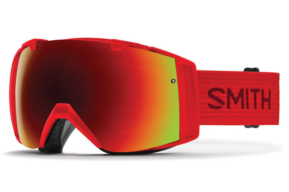 Smith - I/O Fire Goggles, Red Sol-X Mirror Lenses