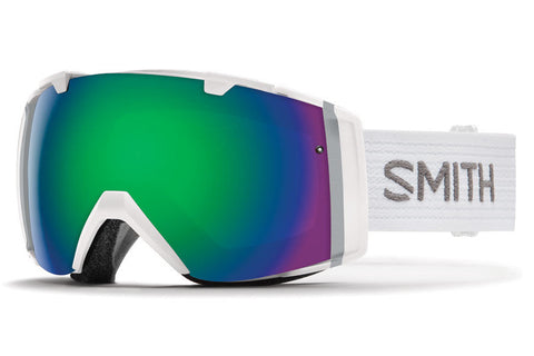Smith - I/O White Goggles, Green Sol-X Mirror Lenses