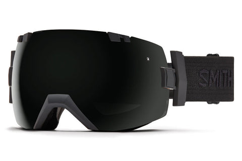 Smith - I/OX Black - Black Goggles, Blackout Lenses