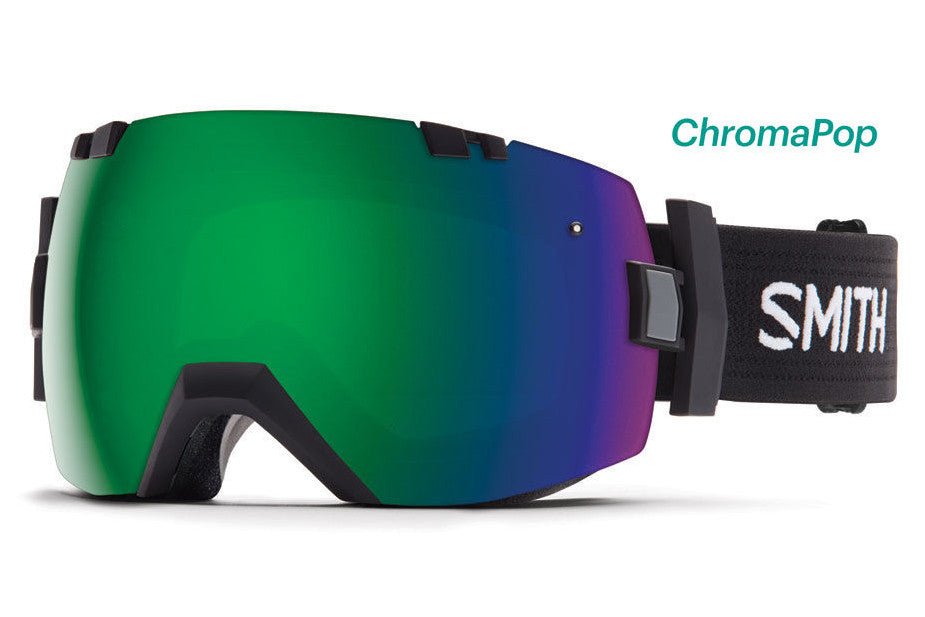 Smith I/OX Black Goggles, ChromaPop Sun Lenses