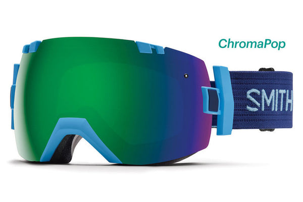 Smith I/OX Light Blue Goggles, ChromaPop Sun Lenses