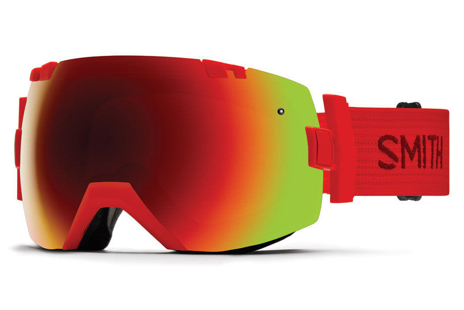Smith - I/OX Fire Goggles, Red Sol-X Mirror Lenses