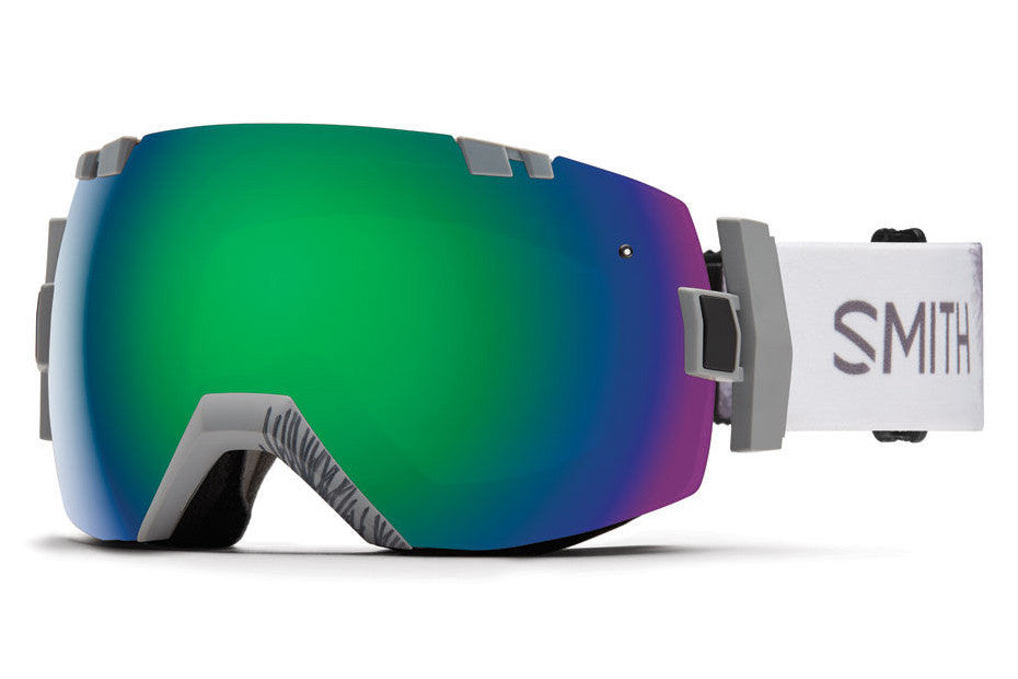 Smith I/OX Wise ID Goggles, Green Sol-X Mirror Lenses
