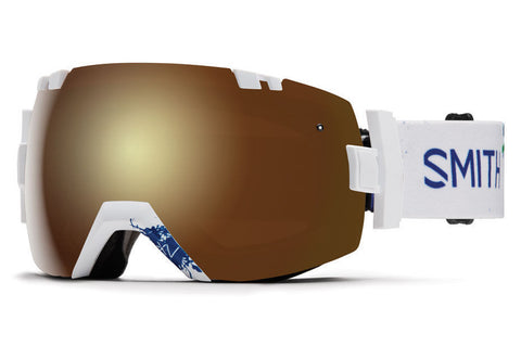 Smith - I/OX Asian Fit Xavier ID Goggles, Gold Sol-X Mirror Lenses