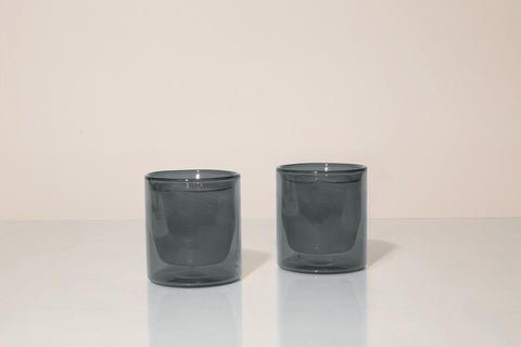 Yield Designs Co. - Set of Two Gray 6oz Double Wall Glass