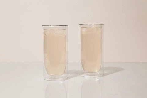 Yield Designs Co. - Set of Two Clear 16oz Double Wall Glass