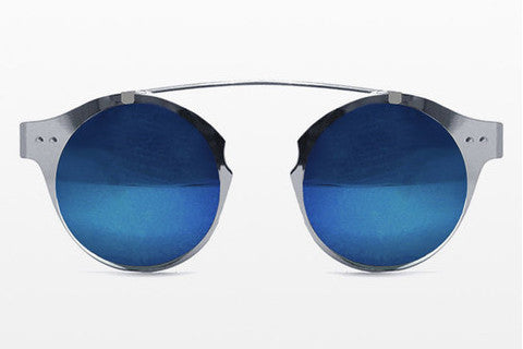 Spitfire - Intergalactic Silver Sunglasses, Blue Mirror Lenses