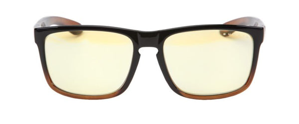 Gunnar - Intercept 24K Dark Ale Eyeglasses / Amber Blue Light Lenses