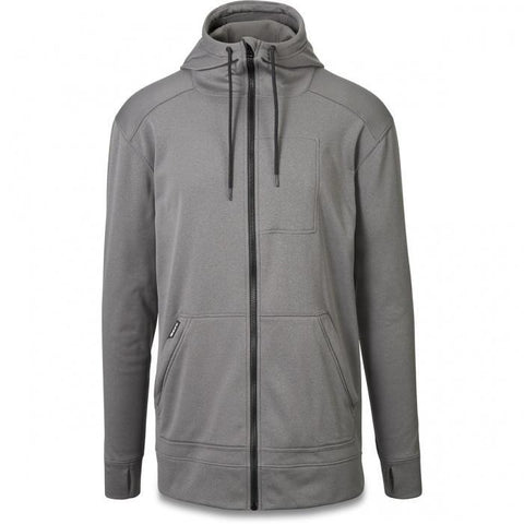 Dakine - Men's Ironside Full Zip Tech Heather Grey Hoodie