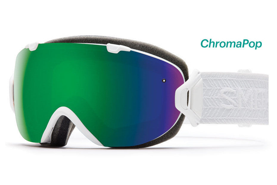 Smith - I/OS White Eclipse Goggles, ChromaPop Sun Lenses