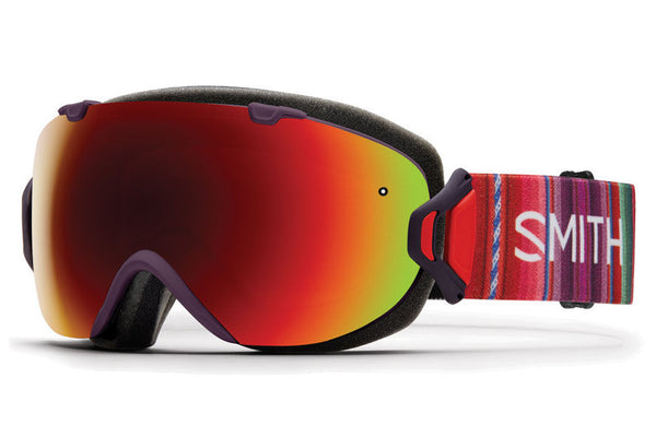 Smith - I/OS Black Cherry Cuzco Goggles, Red Sol-X Mirror Lenses