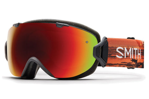 Smith - I/OS Asian Fit Elena ID Goggles, Red Sol-X Mirror Lenses
