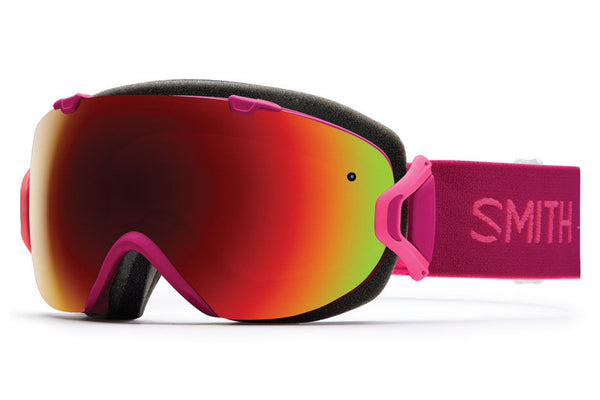 Smith - I/OS Fuchsia Static Goggles, Red Sol-X Mirror Lenses