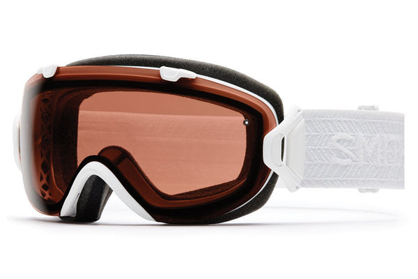 Smith - I/OS White Eclipse Goggles, Polarized Rose Copper Lenses